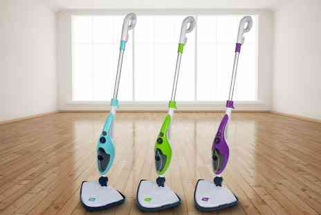 Groupon Goods Global GmbH - Neo Ten in One 1500W Steam Mop Cleaner with Optional One, Two or Five Extra Pad Packs - Save 73%