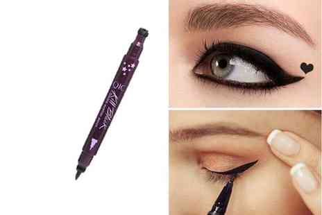 Forever Cosmetics - One two in one heart stamp liquid eyeliner - Save 73%