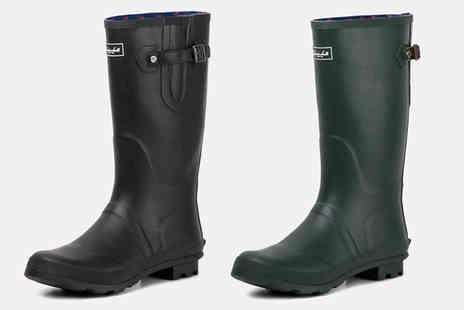 Redfoot - Pair of rubber wellington boots choose from two colours - Save 53%
