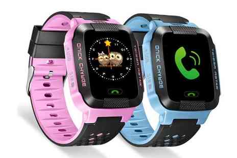 SPOT PROMOTIONS - Child safety gps tracker watch choose from two colours - Save 84%