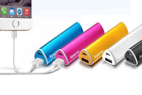Groupon Goods Global GmbH - One or Two Portable Pyramid Usb Smartphone Chargers in Choice of Colour - Save 86%