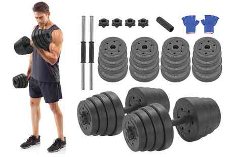 Groupon Goods Global GmbH - 30kg Deluxe Dumbbells Set - Save 57%