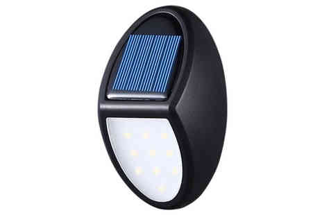 EClife Style - Waterproof Solar Power Wall Light Choose 1, 2 or 4 - Save 83%