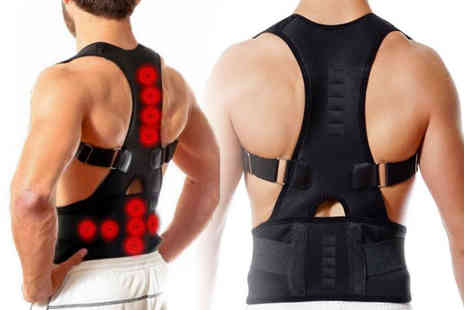 hey4beauty - Magnetic posture correcting back support choose from four sizes - Save 75%