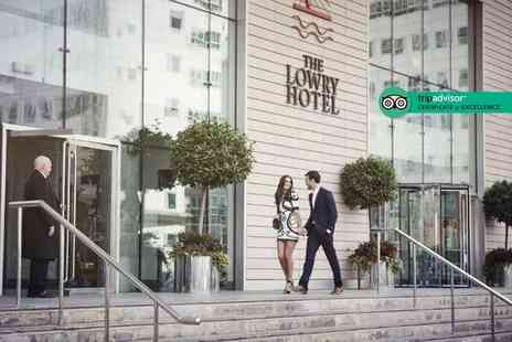 The Lowry Hotel - Overnight stay for two people in a business executive room with breakfast and a bottle of Prosecco, Include three course dining - Save 69%