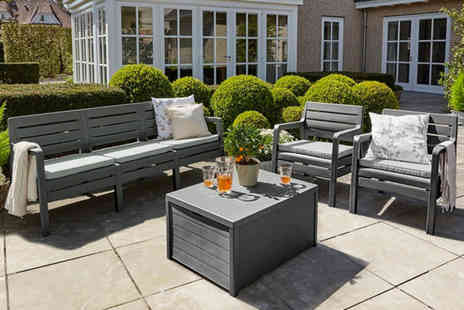 Out and Out Original - Four piece Delano garden furniture set choose from two colours - Save 47%