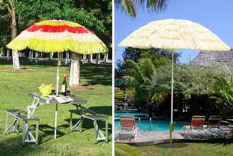 Mhstar - Hawaiian style garden parasol choose from two designs - Save 57%