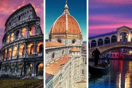 Weekender Breaks - Six nights Rome, Florence and Venice stay with return flights and transfers via train - Save 39%