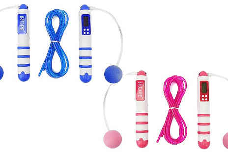 Home Season - Wireless Calorie Counting Skipping Rope Choose from Two Colours - Save 83%