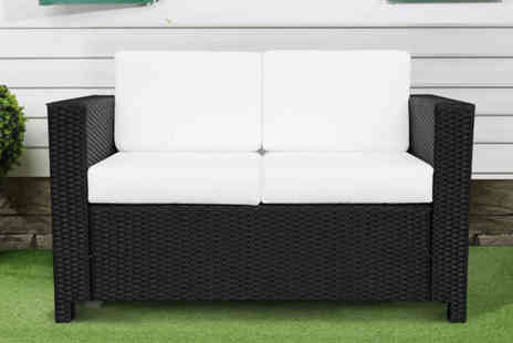 Mhstar - Two seater polyrattan sofa choose from two colours - Save 64%