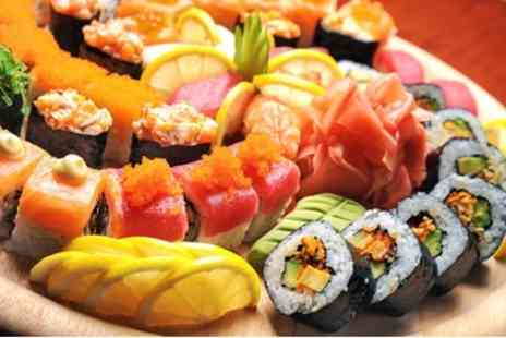 Sushi Cafe - 40 or 60 Piece Sushi Platter or 60 Piece Hot Food Platter for Two - Save 65%