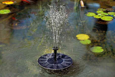 Magic Trend - Solar powered mini water fountain - Save 70%