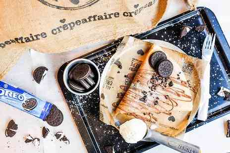 Crepeaffaire - Crepe and drink each for two people - Save 45%