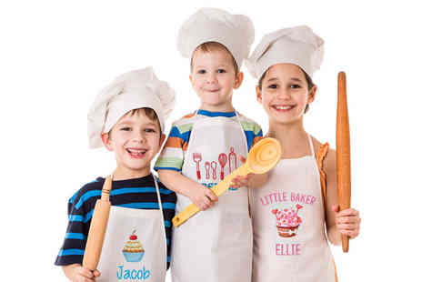Deco Matters - Kids personalised apron - Save 70%