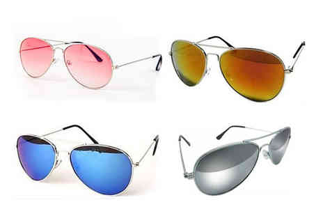 Bellap - Pair of aviator sunglasses choose from eight colours - Save 60%