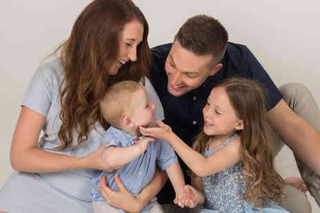 Click Connection Corporation - Family photoshoot, one 8 Inch x 10 Inch print, two 5 Inch x 7 Inch prints, a £50 voucher towards any wall hanging - Save 97%