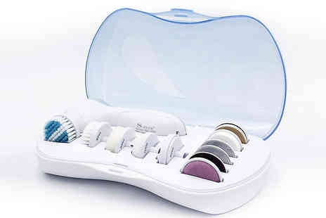 EClife Style - Electric Facial Cleansing Brush with 11 Brush Heads - Save 74%