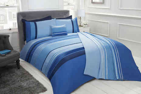 Cascade Home - Embellished pintuck duvet cover set - Save 0%