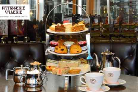 Patisserie Valerie - Traditional Afternoon Tea with Optional Prosecco for Two - Save 12%