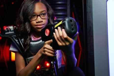 Laser Quest Enfield - Gold Laser Tag Party Package with Two Games and Free Flowing Drinks for Eight - Save 53%