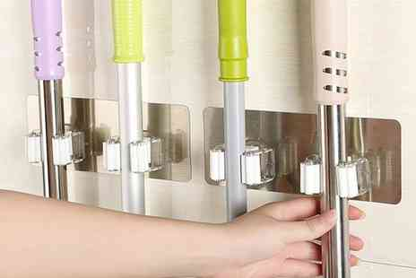 Groupon Goods Global GmbH - One or Two Wall Mounted Double Mop Holders - Save 0%