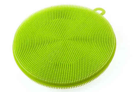 Shop Story - Pack of Three Silicone Dish Sponges - Save 65%