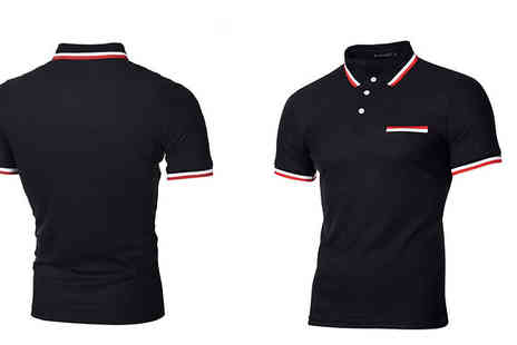 Blu Apparel - Mens Hudson Mock Pocket Polo Choose from Foue Colours And Five Sizes - Save 33%