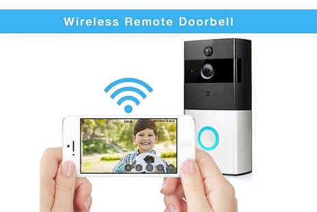 Hirix - Three in One Smartphone Connected Video Doorbell With Intercom With Optional Batteries - Save 75%
