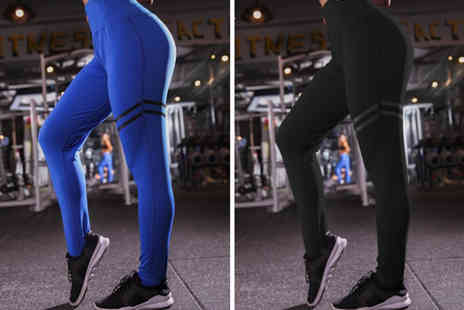 hey4beauty - Pair of elasticated fitness leggings choose from four colours - Save 0%