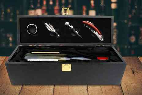 Who Needs Shops - Wine bottle gift box and accessory set - Save 66%