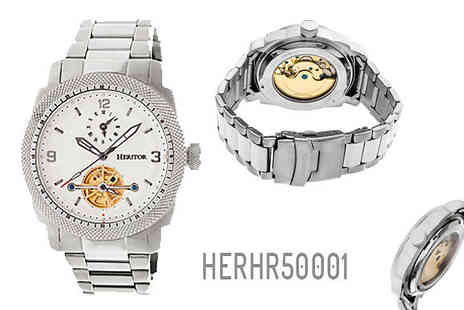 Ideal Deal - Stainless Steel or Leather Heritor Automatic Watch Choose from Nine Options - Save 88%