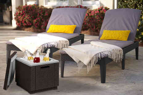 Out & Out Original - Panama twin sun lounger set with ice box - Save 50%