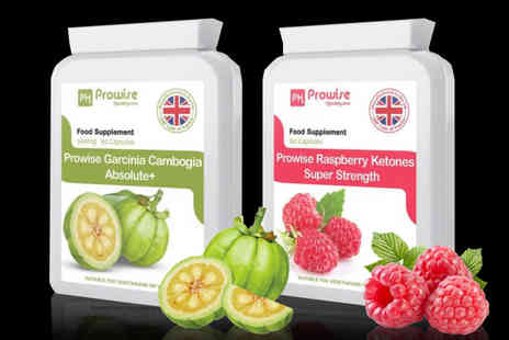 Prowise - One month supply of raspberry ketones and Garcinia Cambogia capsules - Save 74%