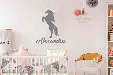 Deco Matters - Personalised name wall sticker - Save 72%
