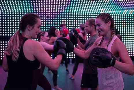 New Motion Fitness - Five Box n Bass, HIIT vs House, Lightbox Yoga or Rave Fit classes Get pumped with a live DJ - Save 81%