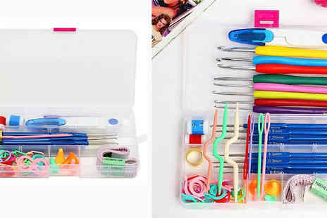 Hey4beauty - Craft Knitting and Crochet Set with 16 Needle Sizes - Save 67%