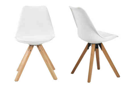 Out and Out Original - Set of two Bojan dining chairs choose from three colours - Save 0%