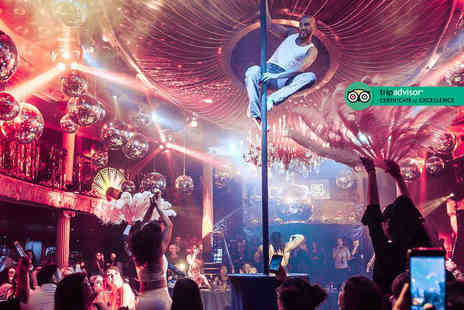 Cafe De Paris - Friday cabaret experience including two course meal, cocktail and club entry - Save 40%