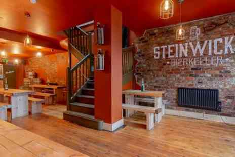 Steinwicks Bierkeller - Choice of Bratwurst with Beer Stein for Two or Four - Save 63%