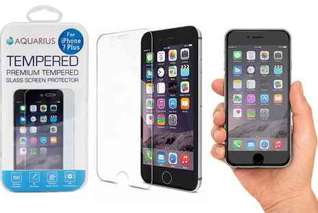 Groupon Goods Global GmbH - Up to Five Tempered Glass Screen Protectors for iPhone - Save 0%