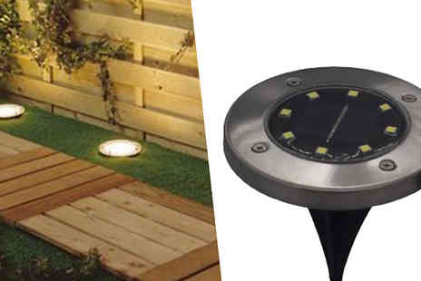Fantasy Supply - Solar Powered Led In ground Lights - Save 75%