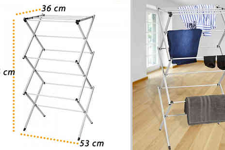 Fusion - Three Tier Foldable Clothes Airer - Save 68%