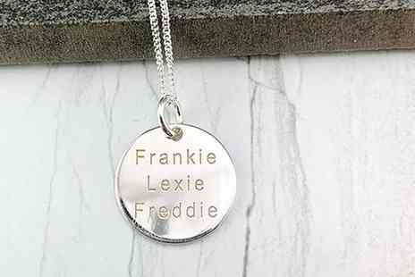 Optima Jewellery - Personalised sterling silver disc pendant - Save 85%