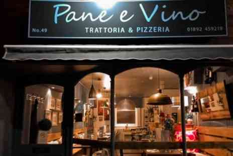 Pane E Vino - Two Course Meal and Drink or Three Course Meal for Two - Save 52%