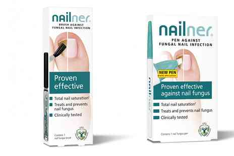 Groupon Goods Global GmbH - Nailner Fungal Nail Treatment Brush, Pen or Both - Save 0%