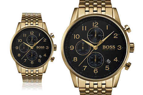 Best Watch Company - Hugo Boss Navigator chronograph mens watch - Save 57%