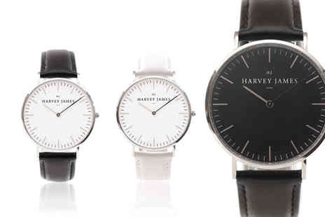 Harvey James - Luxury unisex watch choose from seven designs - Save 80%