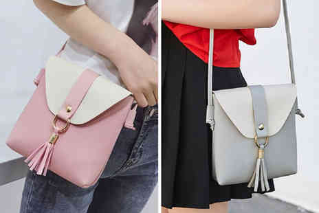 hey4beauty - Two tone tassel shoulder bag - Save 76%
