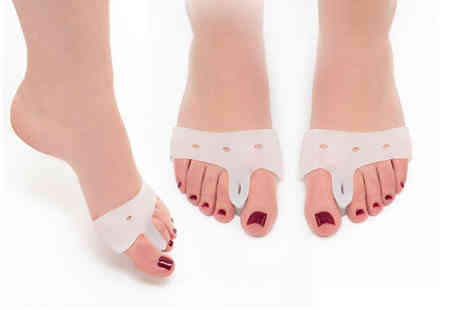 Avant Garde - Pair of silicone bunion relief toe pads - Save 87%