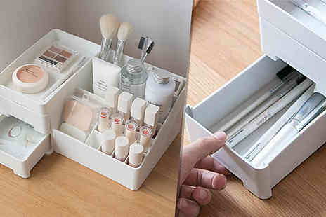 Buy Something - Cosmetic Storage Box Choose from White or Grey - Save 74%